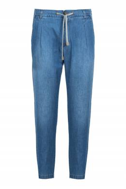 Голубые джинсы на резинке Eleventy 2014149812
