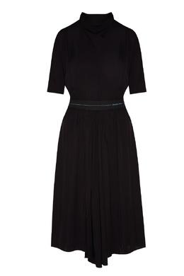 Черное платье из струящейся ткани Prada 40150345