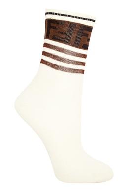 Белые носки с контрастной отделкой Fendi 1632150408