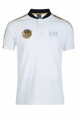 Белое спортивное поло Ea7 2944149713