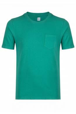 Зеленая футболка с карманом Eleventy 2014149782