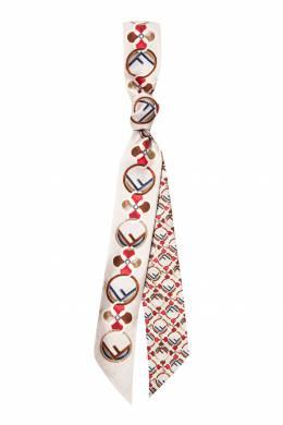 Бежевый шарф с орнаментом Fendi 1632150458