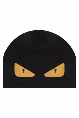 Черная шапка с аппликацией Fendi 1632150486