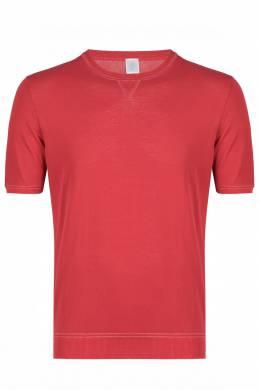Красная хлопковая футболка Eleventy 2014149753