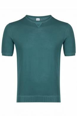 Зеленая футболка мелкой вязки Eleventy 2014149750