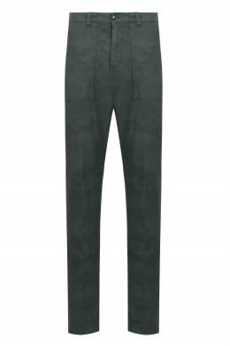 Зеленые брюки камуфляжной расцветки Eleventy 2014149821