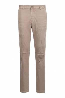 Коричневые брюки с декоративными элементами Eleventy 2014149823