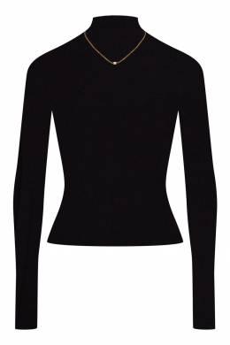 Черная водолазка из шерсти и шелка Alexander Wang 367150552