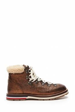 Коричневые ботинки с глиттером Moncler 34149573