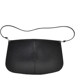 Louis Vuitton Black Epi Leather Pochette Demi Lune Bag 215057