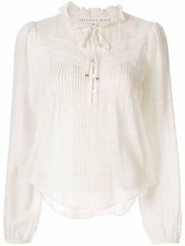 Veronica Beard укороченная блузка со складками 1905SH0114713