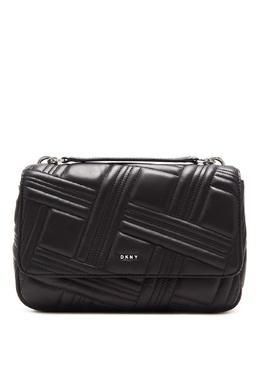Черная сумка с фактурным узором DKNY 1117149132