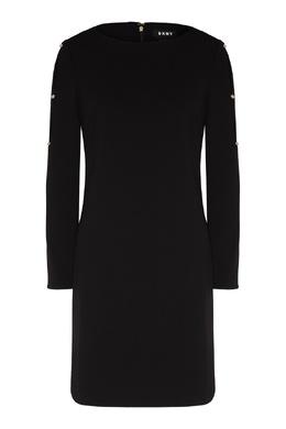 Черное платье с отделкой DKNY 1117149029