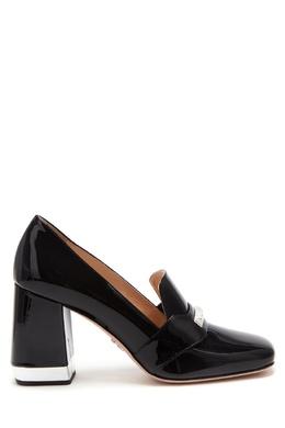 Черные лакированные туфли Prada 40150355