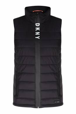 Черный стеганый жилет DKNY 1117149008