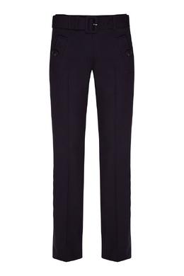 Темно-синие брюки с поясом Prada 40150337
