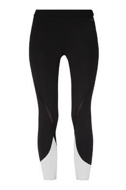 Черные леггинсы с контрастными вставками DKNY 1117149012