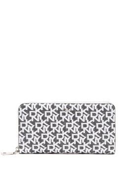 Серый прямоугольный кошелек с монограммами DKNY 1117149178