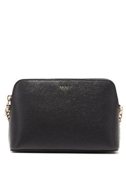 Зеленая кожаная сумка-кроссбоди DKNY 1117149164