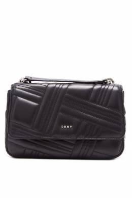 Черная фактурная сумка-кроссбоди DKNY 1117149151