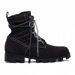 MCQ by Alexander McQueen Black Exodus Lace-Up Boots 192114M25500107GB