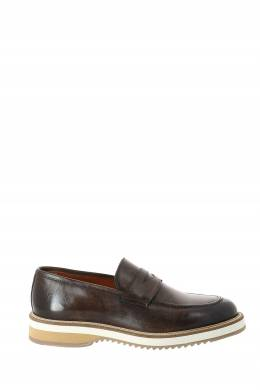Коричневые кожаные ботинки Eleventy 2014150262