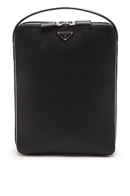 Прямоугольный рюкзак из сафьяновой кожи Prada 40150689