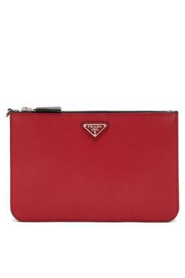 Клатч на руку красного цвета Prada 40150690