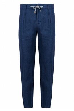 Синие льняные брюки Eleventy 2014150208