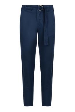 Синие брюки с декоративным поясом Eleventy 2014150215