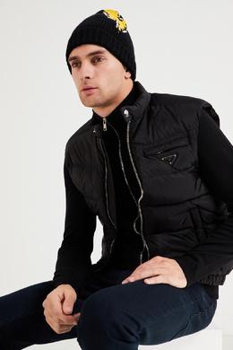 Черная шапка с ярким рисунком Prada 40150712