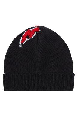 Черная шапка с молнией Prada 40150713