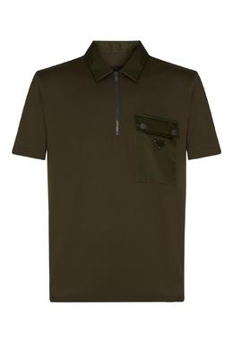 Зеленое поло с карманом Prada 40150731