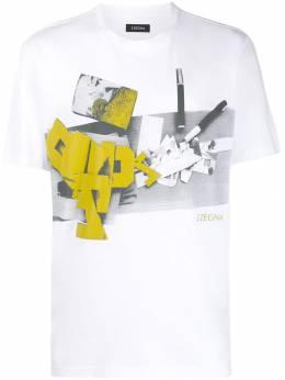 Z Zegna футболка с круглым вырезом и принтом VT372ZZ630O