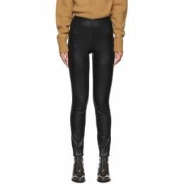 Rag&Bone Black Leather Simone Trousers 192055F08400102GB