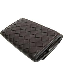 Bottega Veneta Dark Brown Intrecciato Leather Wallet 222930