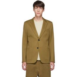 Ami Alexandre Mattiussi Tan Patch Pocket Blazer 192482M19500306GB