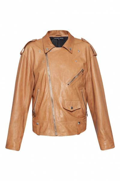 Коричневая куртка-косуха Alexander Terekhov 74150605 - 1