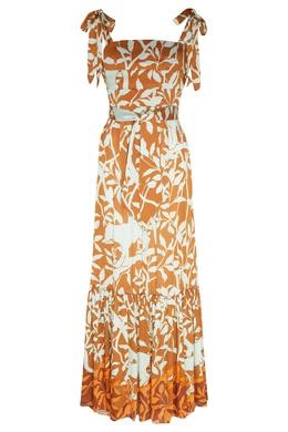 Платье-бандо с растительным принтом Johanna Ortiz 2942150646