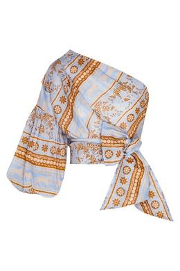 Асимметричная блуза с принтом Johanna Ortiz 2942150647
