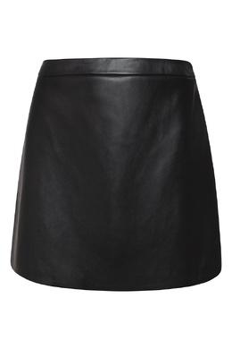 Кожаная юбка черного цвета Alexander Terekhov 74150616