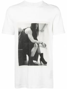 Rick Owens DRKSHDW футболка Level с фотопринтом DU19F6250RNEP8