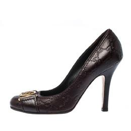 Gucci Dark Brown Guccisima Leather Hysteria Pumps Size 36.5