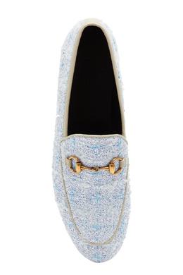 Лоферы из голубого твида Jordaan Gucci 470139255