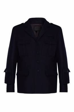 Шерстяная куртка с карманами Prada 40150671