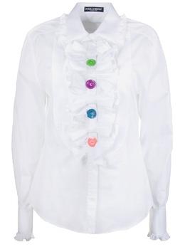 Белая блузка с цветными пуговицами Dolce&Gabbana 599151072
