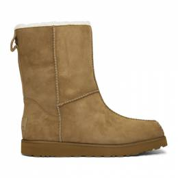 Eckhaus Latta Brown and Off-White UGG Edition Block Boots 192830M22300203GB