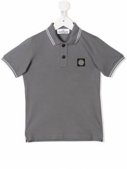 Stone Island Junior рубашка-поло с нашивкой-логотипом MO711621348