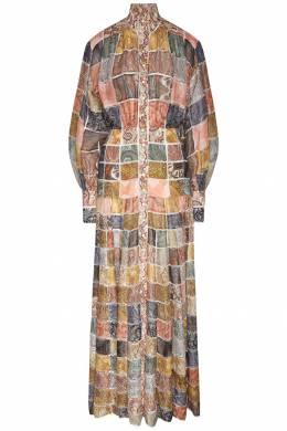 Длинное платье в стиле пэчворк Zimmermann 1411150974