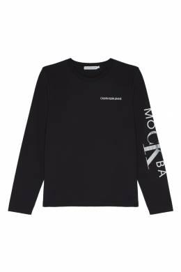 Черный свитшот с белым логотипом Calvin Klein Kids 2815151660